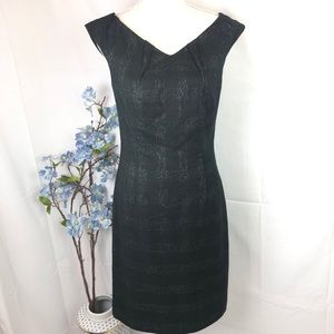 MOSSIMO Stretch V - neck career dress black sz 6
